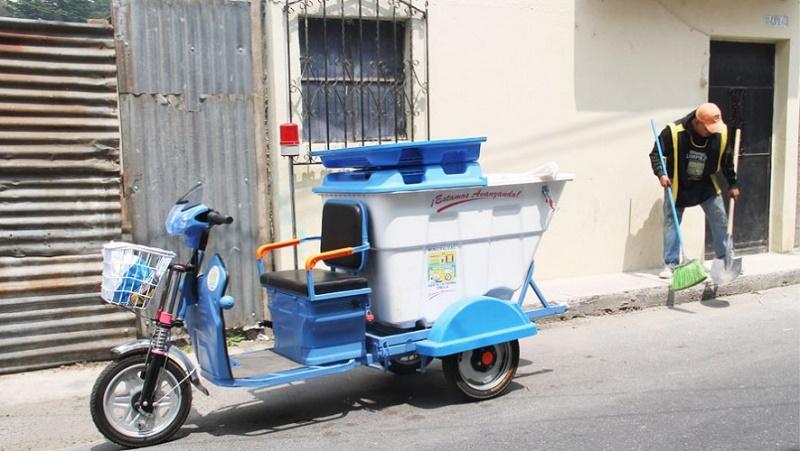 Motos recolectoras de basura